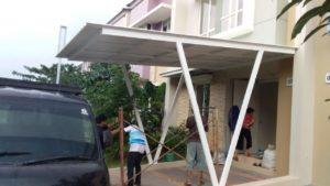 model kanopi flat atap alderon